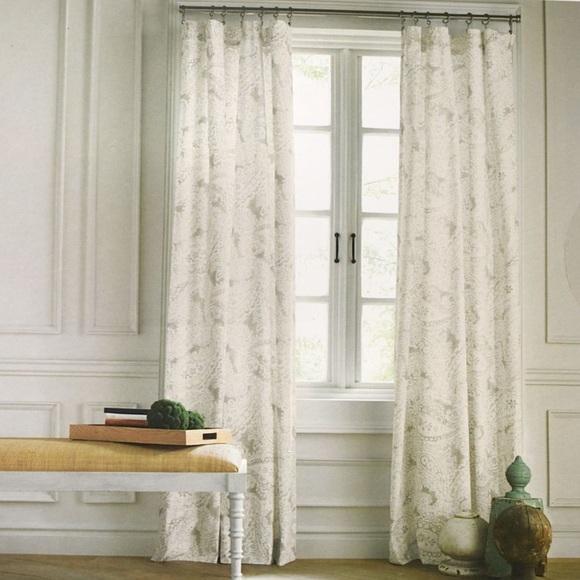 NEW Tommy Hilfiger Mission Paisley 2x Window Curtain Panels 50 x 96
